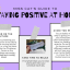 MS. CATHERINE'S GUIDE TO STAYING POSITIVE AT HOME