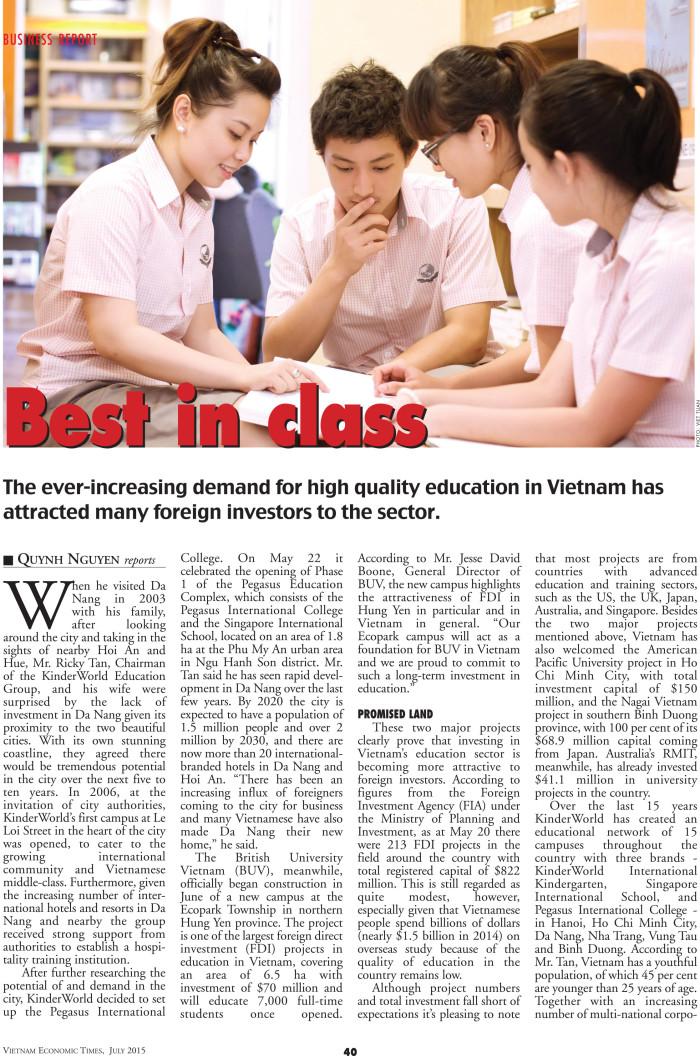 Vietnam Economics Times July 2015 - BEST IN CLASS - 1