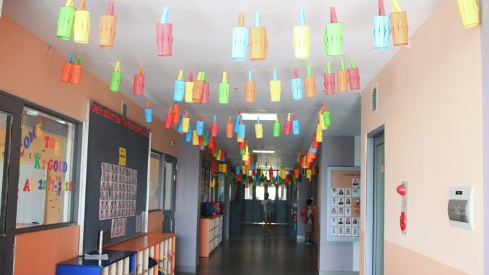 School was decorated with very colourful lanterns (1)
